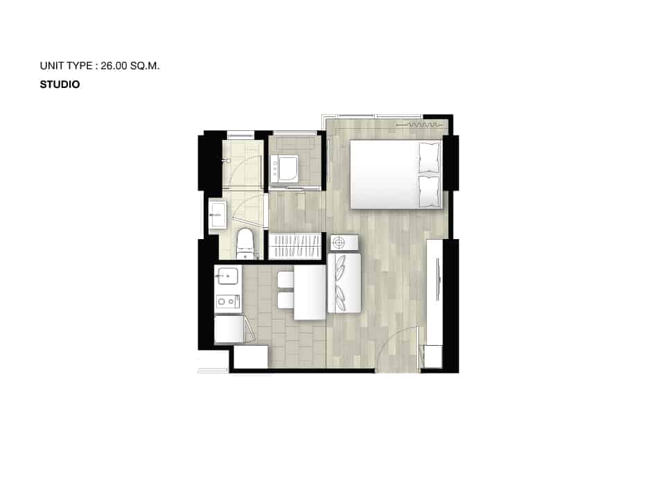 เดอ ลาพีส จรัญ 81-studio layout plan - De Lapis จรัญ 81 - เดอ ลาพีส จรัญ 81