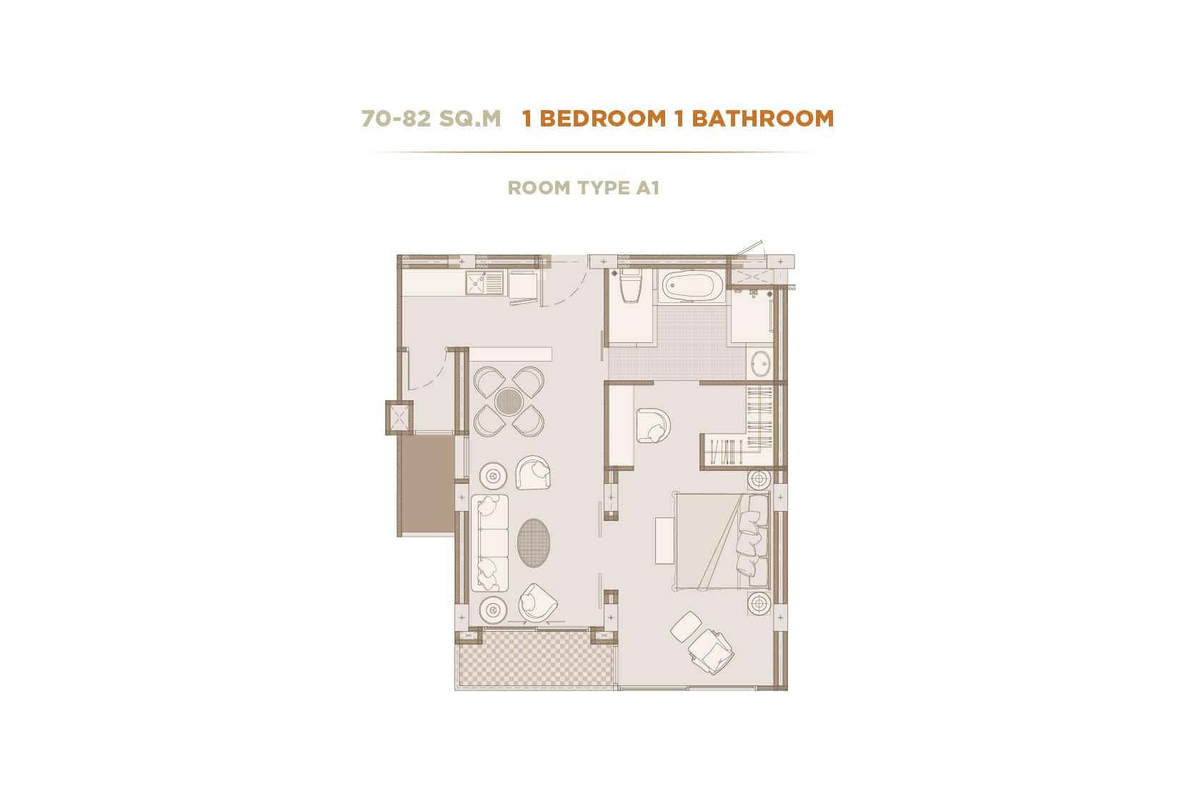 เดอะ ไพรเวท เรสซิเด้นซ์ ราชดำริ-1 Bedroom -The private residence Rajdamri - เดอะ ไพรเวท เรสซิเด้นซ์ ราชดำริ